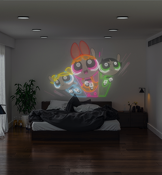 Power Puff Girl Neon Sign