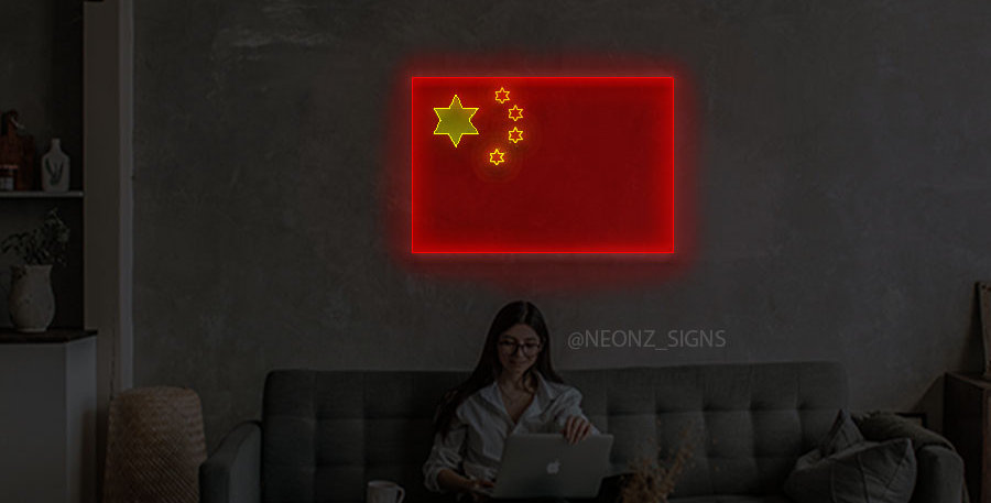 Chinese Flag Neon Sign