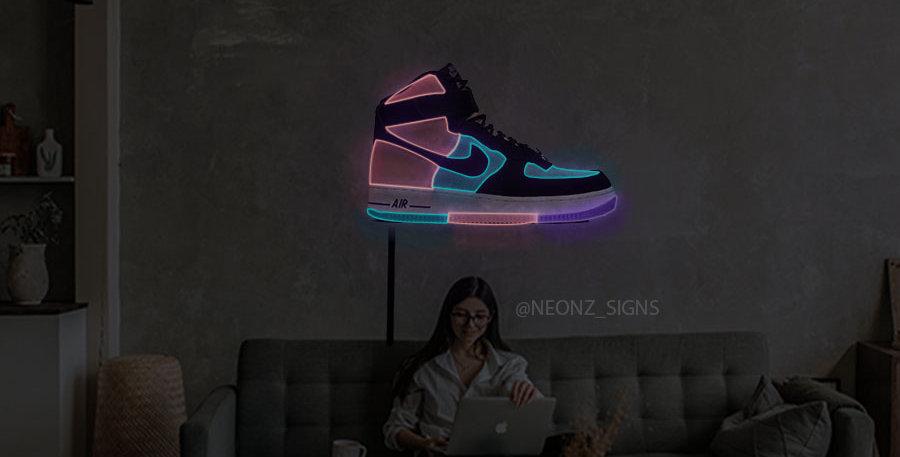 Jordan Air Force 1 neon sign