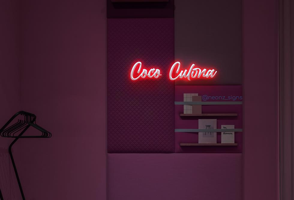 Coco Culona  Neon Sign