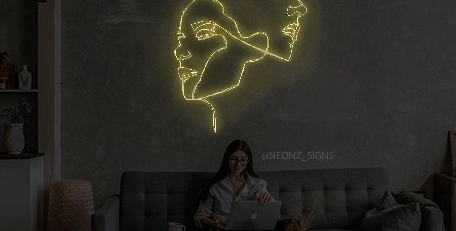 Modern Lady Neon Wall Art