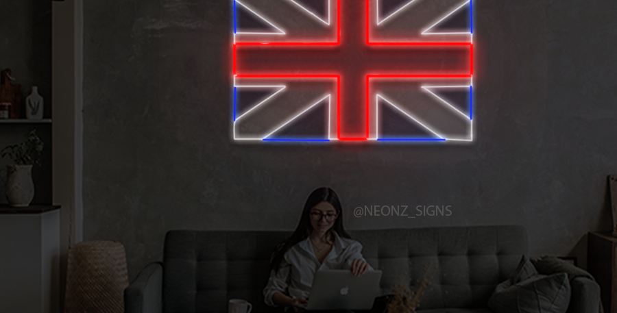 United Kingdom Flag Neon Sign