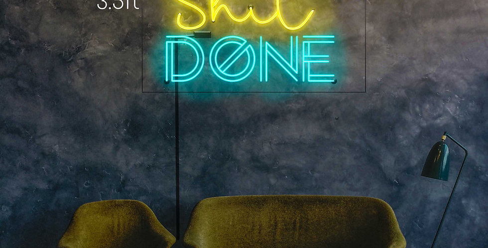 Get Shit Done Inpirational Neon Sign