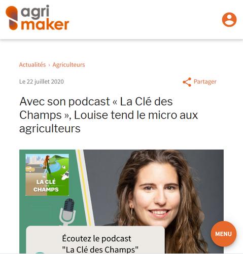 """Avec son podcast """"La Clé des Champs"""", Louise tend le micro aux agriculteurs"""