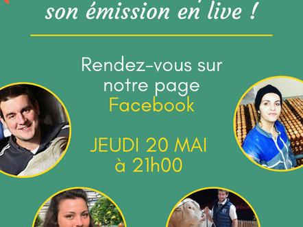 La première émission Live de La Clé des Champs !