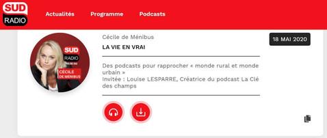 Des podcasts pour rapprocher « monde rural et monde urbain » Invitée : Louise LESPARRE, Créatrice du podcast La Clé des champs