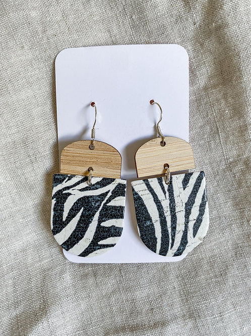 Bamboo Zebra Cork on Leather