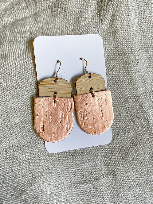 Bamboo Rose Gold Cork on Leather