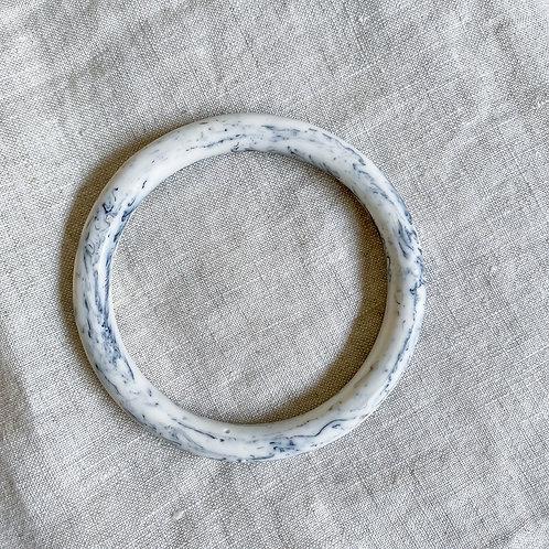 RESIN BANGLE | WHITE MARBLE
