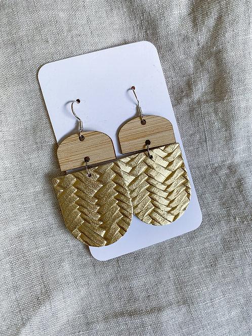 Bamboo Gold Metalic Braid
