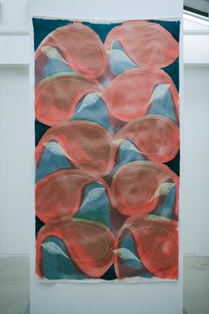 """batik cloth""""red petals"""""""