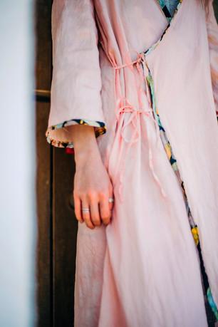 botanical dye(suo)and batik piping coat