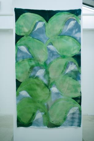 """batik cloth """"green petals"""""""