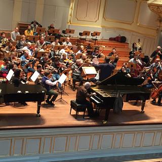 conducting Daniel Barenboim with Brahms concerto in Hamburg