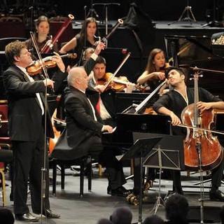 triple concerto with Daniel Barenboim and Kian Soltani, BBC proms London