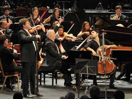 triple concerto with Daniel Barenboim and Kian Soltani, BBC proms London