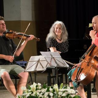 with Martha Argerich and Kyril Zlotnikov
