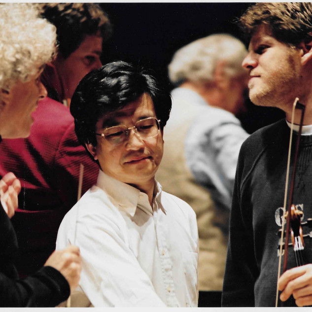 with Sir Simon Rattle and former concertmaster Toru Yasunaga