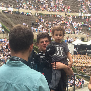 an interview (with Lior) before our triple concerto with Divan Orchstra at the Waldbühne Berlin