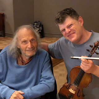 with Ivry Gitlis at Mathat Argerich's festival in Hamburg