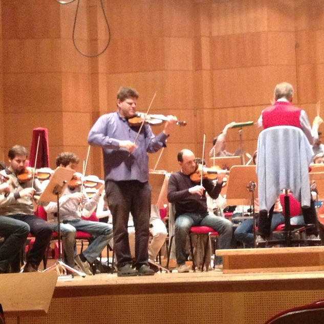with Caludio Abbado and Orchestra Mozart in Bologna