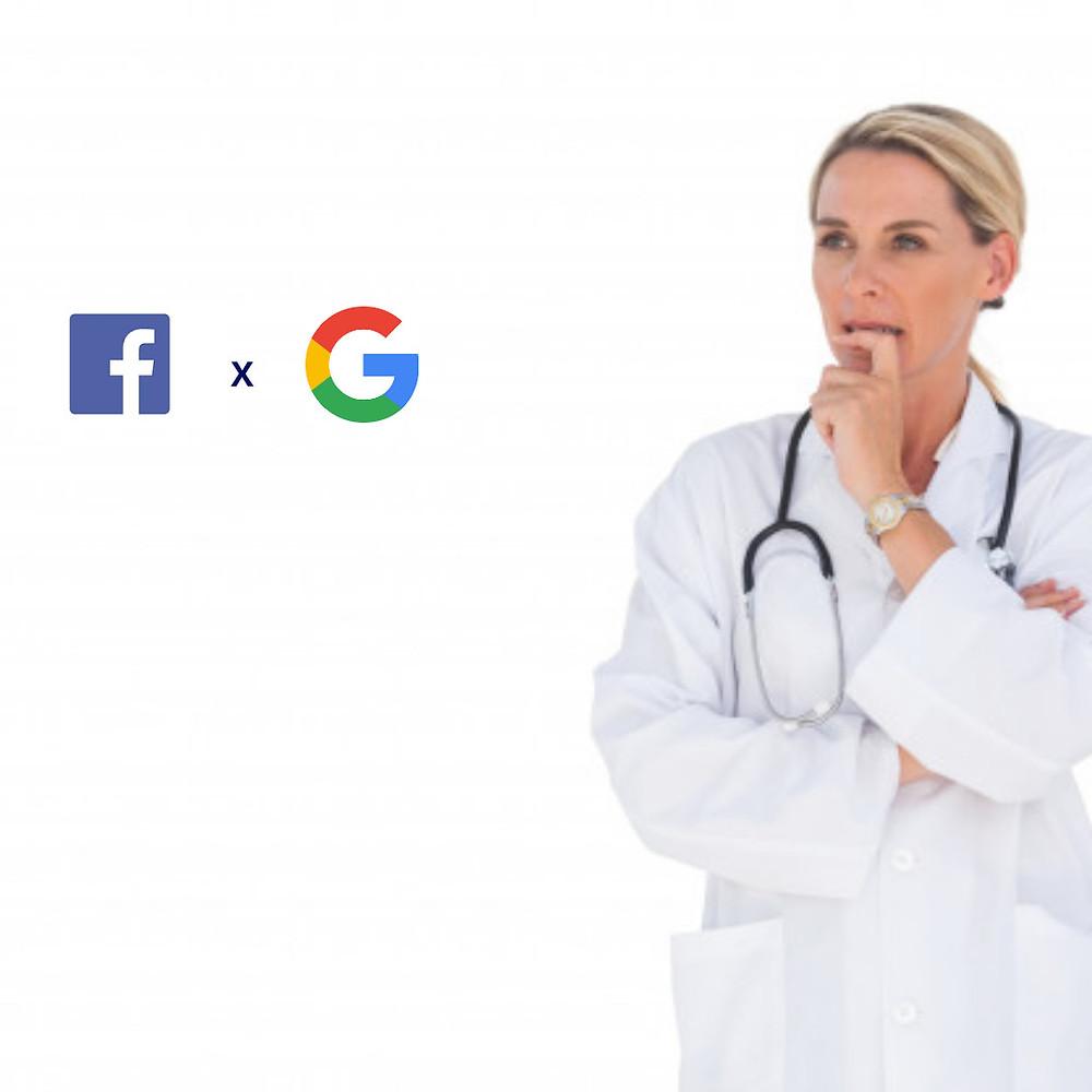 Facebook Ads ou Google Ads para captação de pacientes?
