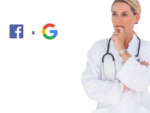 Qual usar Facebook Ads ou Google Ads para atrair pacientes