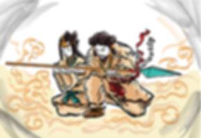 アメノヌボコを授かる夫婦神1.jpg