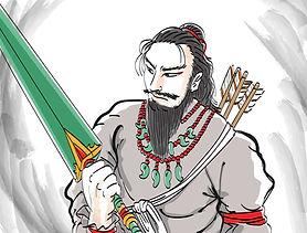 タケミカヅチの剣を手にする神武天皇1.jpg
