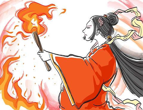 産屋に火を放つコノハナサクヤヒメ1.jpg