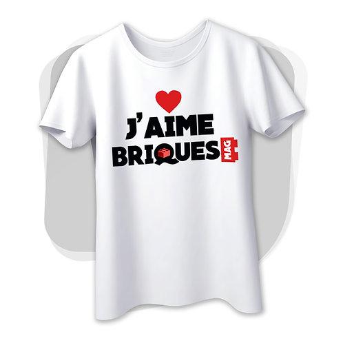 "T-shirt ""j'aime briques mag"""