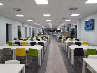 The Difference LED Lighting makes to a Building.... #ScottGroup #POELighting