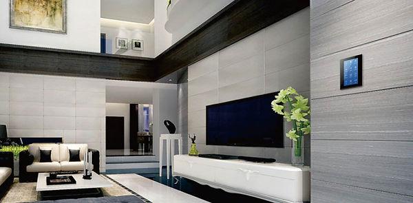 Управление Умным Домом. Настенная сенсорная панель в гостинной.