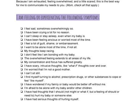 A checklist and a talk