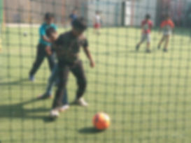 Kids playing Football at Delta 9 Adventures