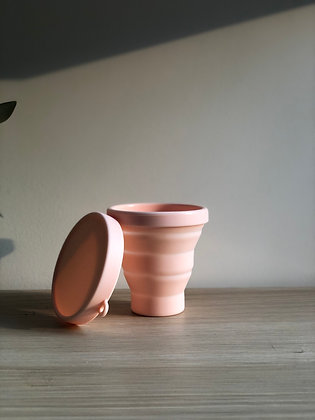 Silicone collapsible cup - pink