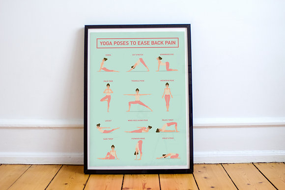Yoga poster (cure for back pain)