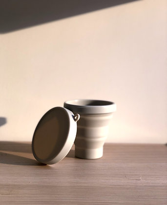 Silicone collapsible cup - Grey