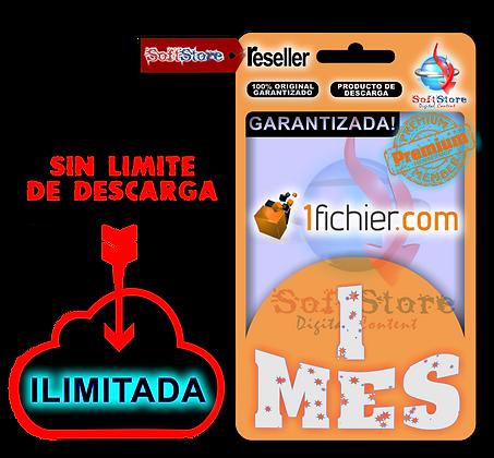 Cuenta Premium 1Fichier, 1 mes (Ilimitada!)