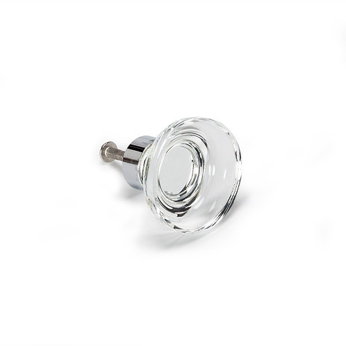 Small Round Glass Knob - H95CLEAR