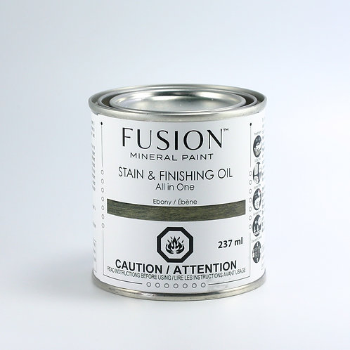 Fusion Stain and Finishing Oil - Ebony - 237ml