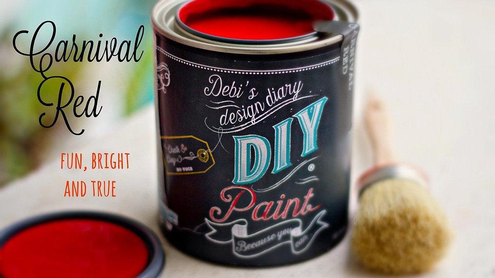 Debi's DIY Paint - 8oz - Carnival Red