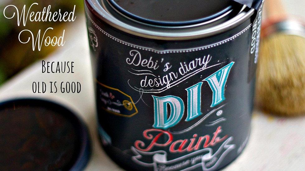Debi's DIY Paint - pint - Weathered Wood