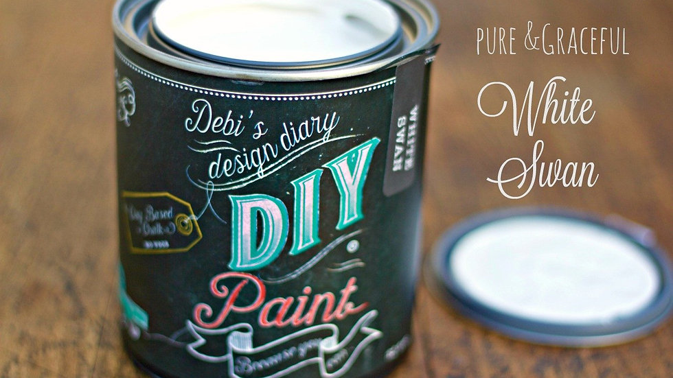 Debi's DIY Paint - pint - White Swan