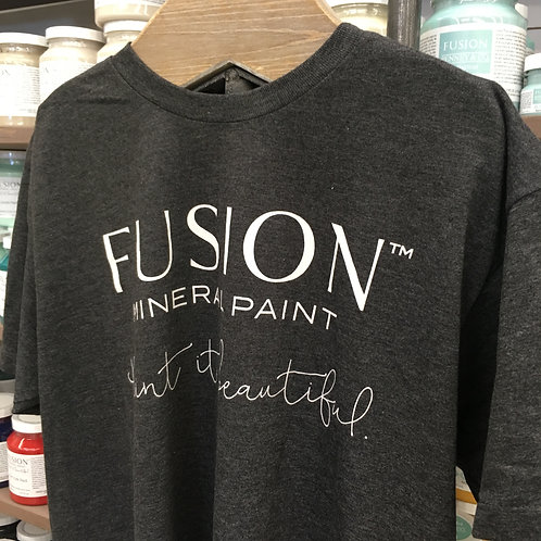 Fusion T-Shirt - 50/50 Cotton/Poly - Charcoal Heather