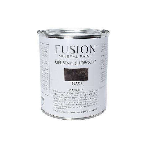 Fusion Gel Stain & Topcoat - 946ml - Black
