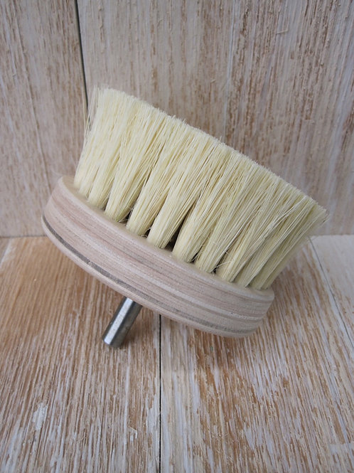 Wax buffing brush - drill attachment