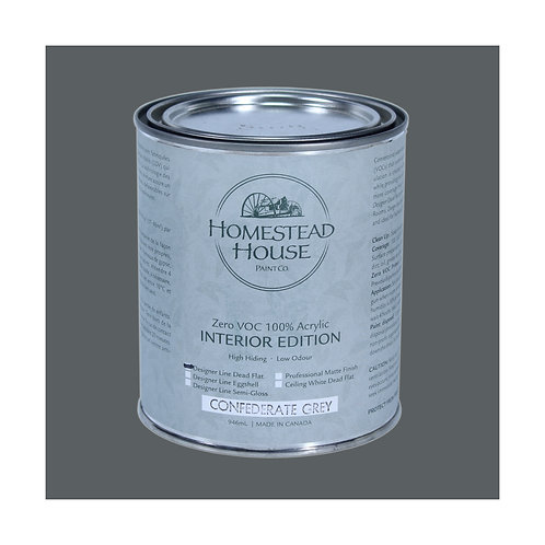 Homestead House Furniture Paint - Dead Flat - Confederate Gray - 946ml