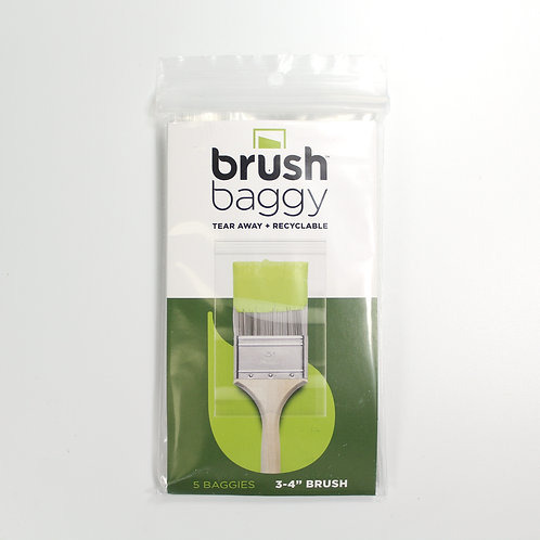 Brush Baggy - for 3-4 inch brushes - pack of 5