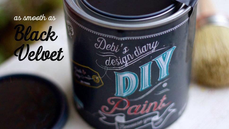 Debi's DIY Paint - 8oz - Black Velvet